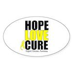 HopeLoveCure Sarcoma Oval Sticker (10 pk)