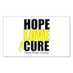 HopeLoveCure Sarcoma Rectangle Sticker 10 pk)