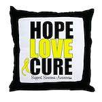 HopeLoveCure Sarcoma Throw Pillow