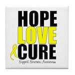 HopeLoveCure Sarcoma Tile Coaster