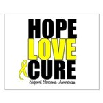HopeLoveCure Sarcoma Small Poster
