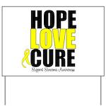 HopeLoveCure Sarcoma Yard Sign