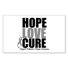 HopeLoveCure Parkinsons Rectangle Decal