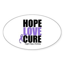 HopeLoveCure Lupus Oval Decal