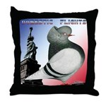 Liberty Flight Pigeon Throw Pillow