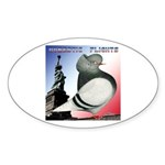 Liberty Flight Pigeon Oval Sticker (10 pk)