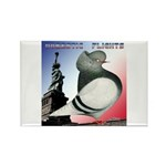 Liberty Flight Pigeon Rectangle Magnet (100 pack)