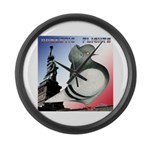 Liberty Flight Pigeon Large Wall Clock