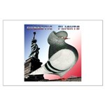 Liberty Flight Pigeon Large Poster