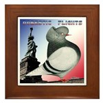 Liberty Flight Pigeon Framed Tile