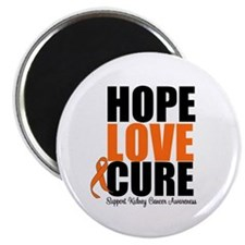 "Kidney Cancer HopeLoveCure 2.25"" Magnet (100 pack)"
