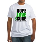 HopeLoveCure KidneyCancer Fitted T-Shirt