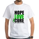 HopeLoveCure KidneyCancer White T-Shirt