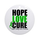 HopeLoveCure KidneyCancer Ornament (Round)
