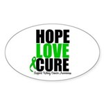 HopeLoveCure KidneyCancer Oval Sticker (10 pk)