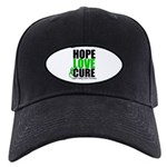HopeLoveCure KidneyCancer Black Cap