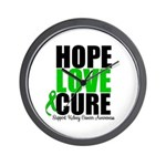 HopeLoveCure KidneyCancer Wall Clock