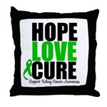 HopeLoveCure KidneyCancer Throw Pillow