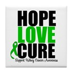 HopeLoveCure KidneyCancer Tile Coaster