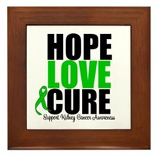 HopeLoveCure KidneyCancer Framed Tile