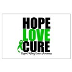HopeLoveCure KidneyCancer Large Poster