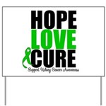 HopeLoveCure KidneyCancer Yard Sign