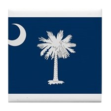 Beloved South Carolina Flag M Tile Coaster