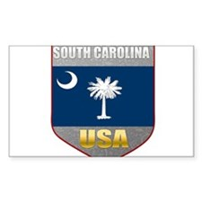 South Carolina USA Crest Rectangle Decal