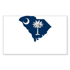 South Carolina Stripe Custom Rectangle Sticker 10