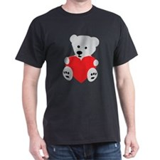 Ice Polar Bear Red Love Heart T-Shirt