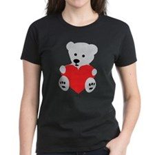 Ice Polar Bear Red Love Heart Tee