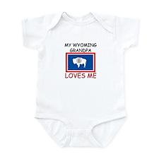 My Wyoming Grandpa Loves Me Infant Bodysuit