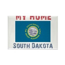 My Home South Dakota Vintage Rectangle Magnet