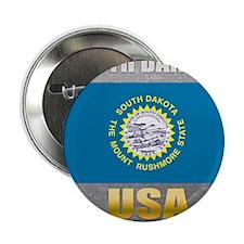 "South Dakota USA Crest 2.25"" Button"
