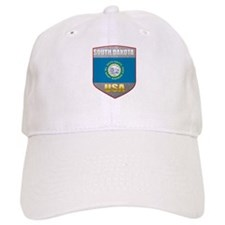 South Dakota USA Crest Baseball Cap