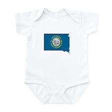 South Dakota Stripe Custom De Infant Bodysuit