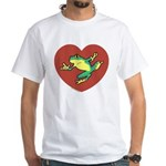 ASL Frog in Heart White T-Shirt