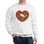 ASL Frog in Heart Sweatshirt