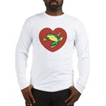 ASL Frog in Heart Long Sleeve T-Shirt