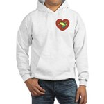 ASL Frog in Heart Hooded Sweatshirt