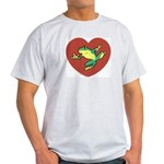 ASL Frog in Heart Ash Grey T-Shirt