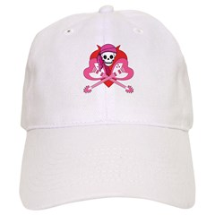 Heart Rock Skeleton Grrl Cap