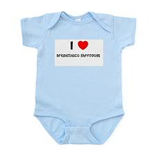 I LOVE BERGAMASCO SHEEPDOGS Infant Creeper