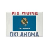 My Home Oklahoma Vintage Styl Rectangle Magnet (10