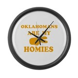 Oklahomans are my homies Large Wall Clock