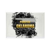 Pimpin' Oklahoma Rectangle Magnet