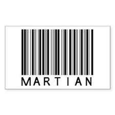 Martian Barcode Rectangle Decal