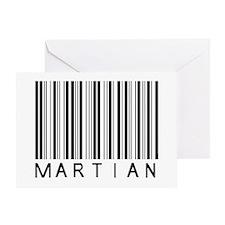 Martian Barcode Greeting Card