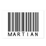 Martian Barcode Postcards (Package of 8)