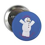 Snowman Christmas Button